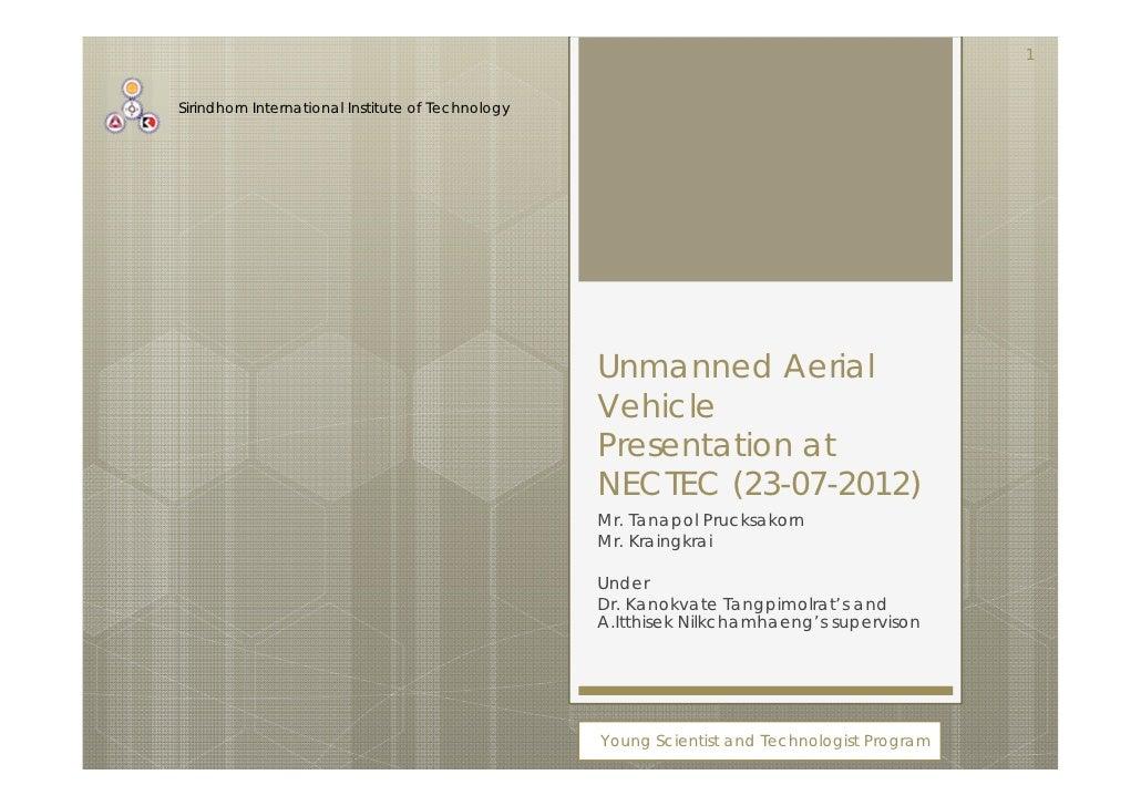 1Sirindhorn International Institute of Technology                                                   Unmanned Aerial       ...