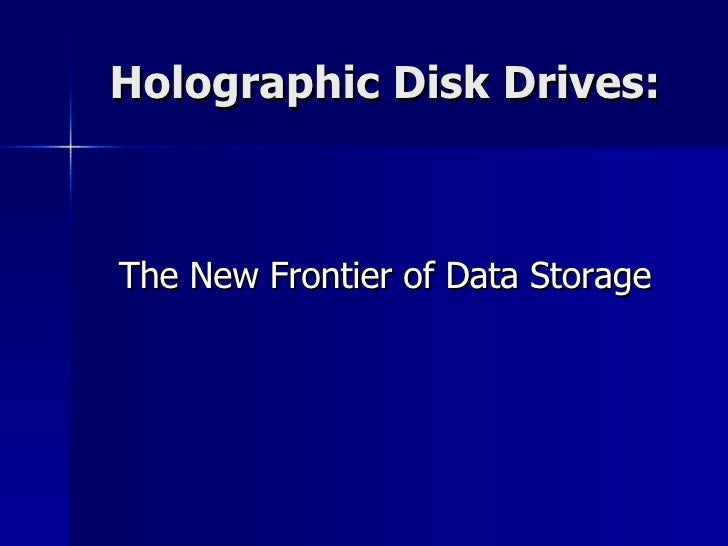 Holographic Disk Drive Technology