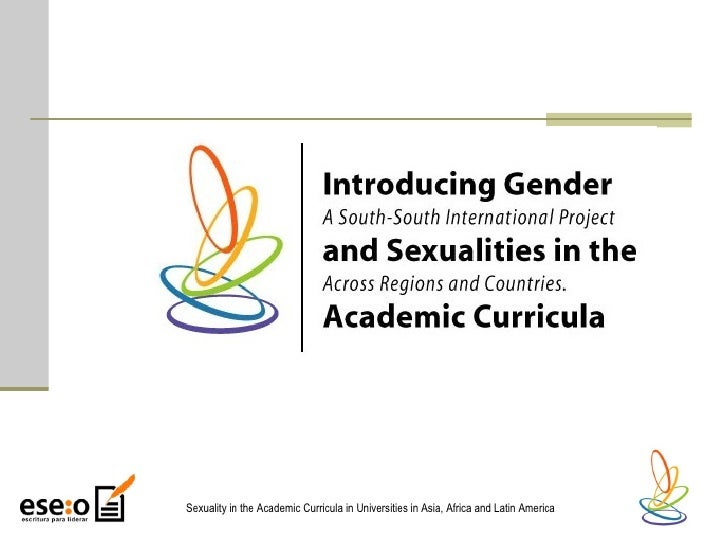 Sexuality in the Academic Curricula in Universities in Asia, Africa and Latin America