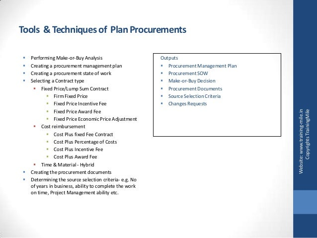 procurement management make or buy analysis