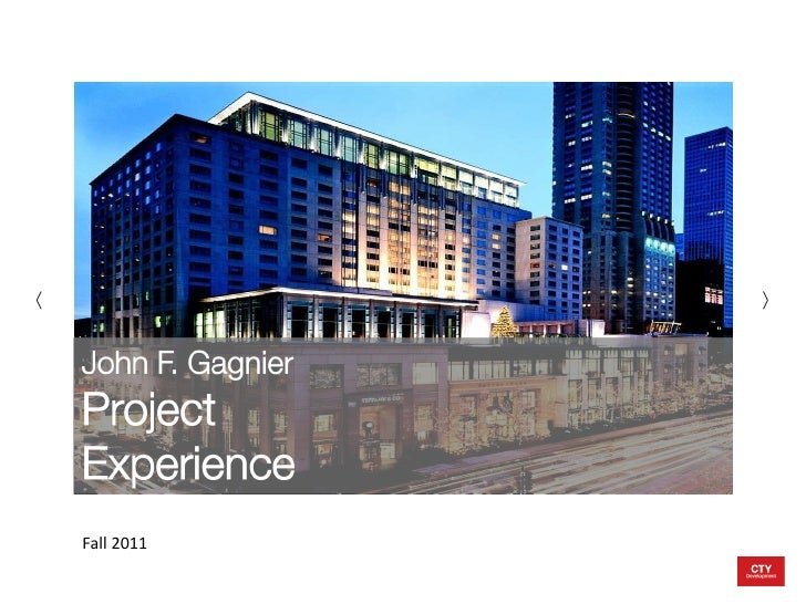 J Gagnier Project Profiles