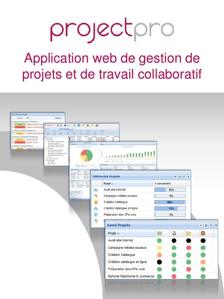 Projectpro outil de gestion de projet SaaS