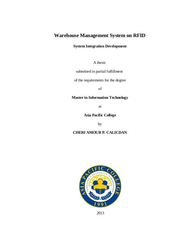 Unique IT thesis topic for 2011 | DaniWeb
