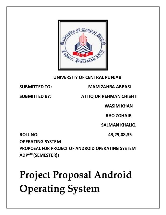 Project proposal android operating system