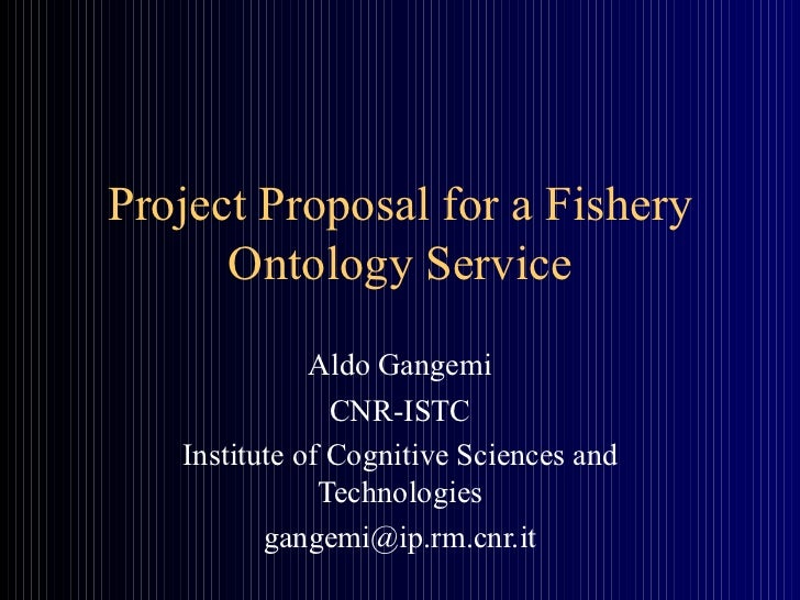 Project proposal for a fishery ontology service