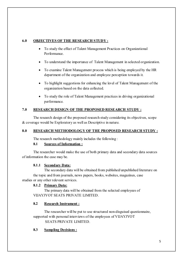 dissertation proposals on performance management