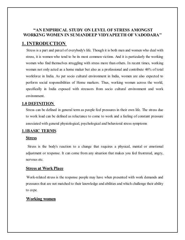 Dissertation On Stress Management