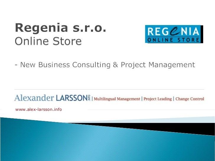 Project Regenia A.Larsson