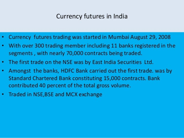 Currency trading in india nse