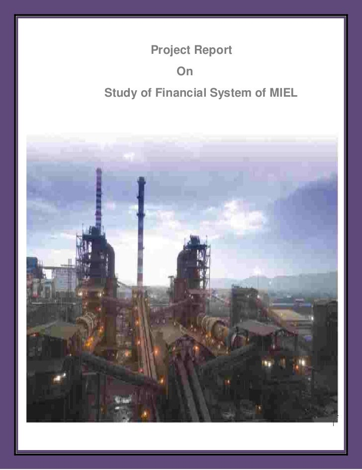 Project Report            OnStudy of Financial System of MIEL