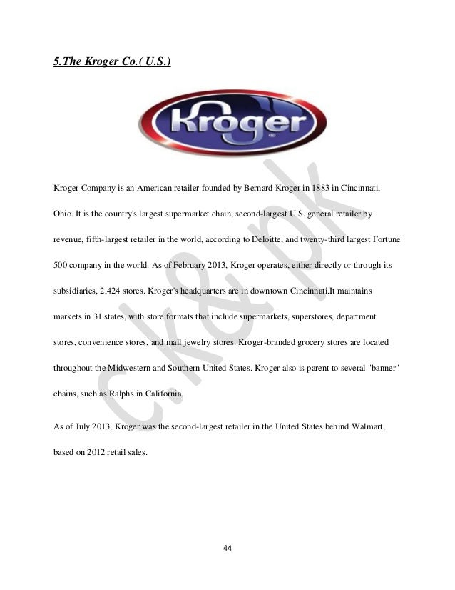 analysis of kroger co Read this essay on kroger strategic analysis come browse our large digital warehouse of free sample essays get the knowledge you need in order to pass your classes.