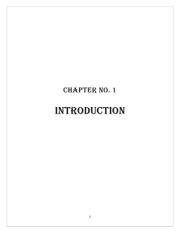 Chapter no. 1  IntroduCtIon            1