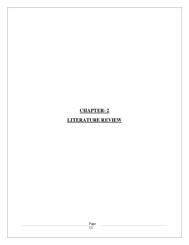 Literature review on buying decision