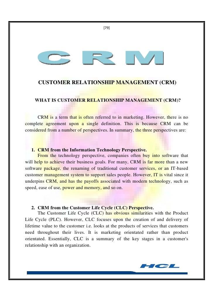 Essays On Customer Relationship Management