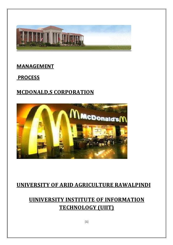a study of mc donalds corporation essay