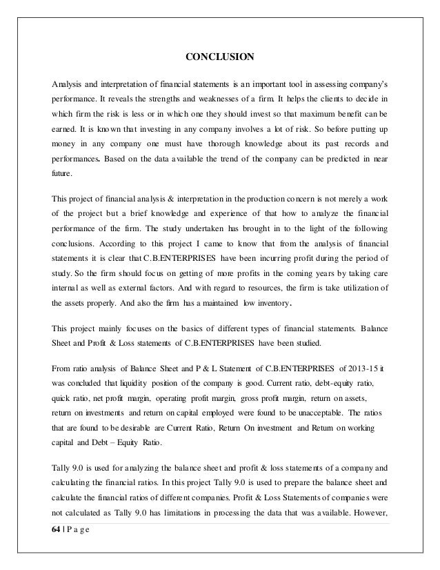 Financial statement essays