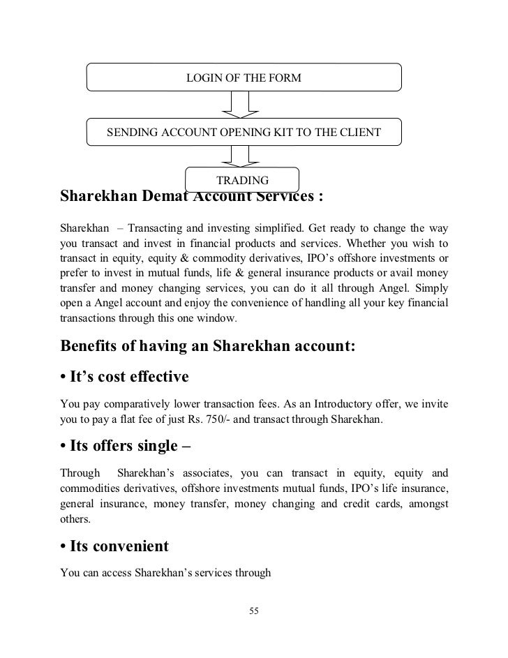 project report on portfolio management service in sharekhan doc