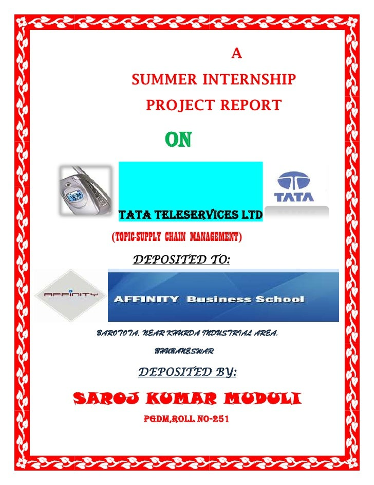 A<br />                  SUMMER INTERNSHIP<br />                     PROJ...