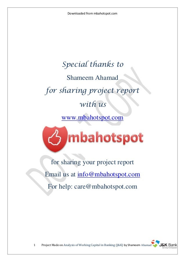 Downloaded from mbahotspot.com  Special thanks to Shameem Ahamad for sharing project report with us www.mbahotspot.com  fo...