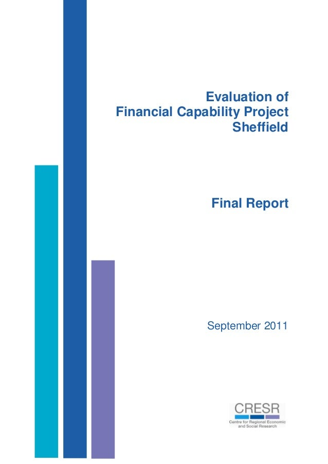 Evaluation of Financial Capability Project Sheffield Final Report September 2011