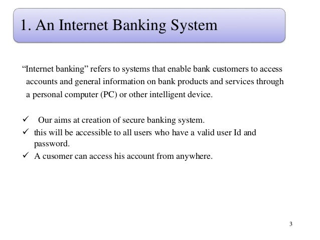 Dissertation on online banking