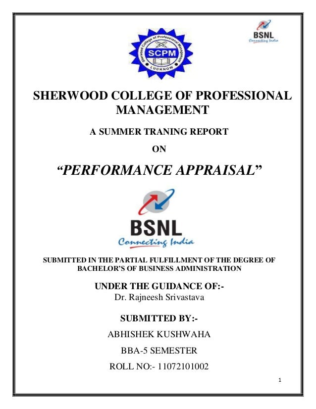 project report on performance appraisal at Projet on performance appraisal system topics: goal this project report is a review based on theory as well as research and experience.