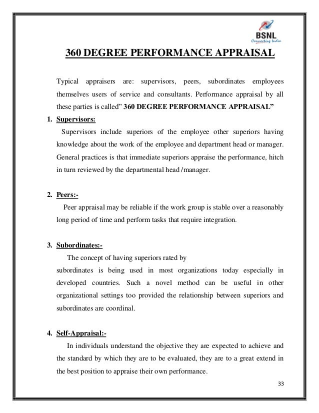 thesis report on performance appraisal