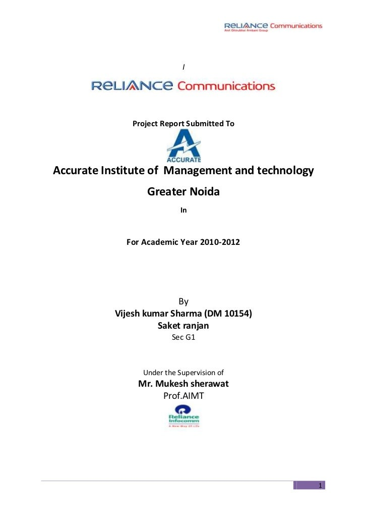 I<br />Project Report Submitted To<br />Accurate Institute of  Management and technology <br />Greater Noida<br />In<br />...
