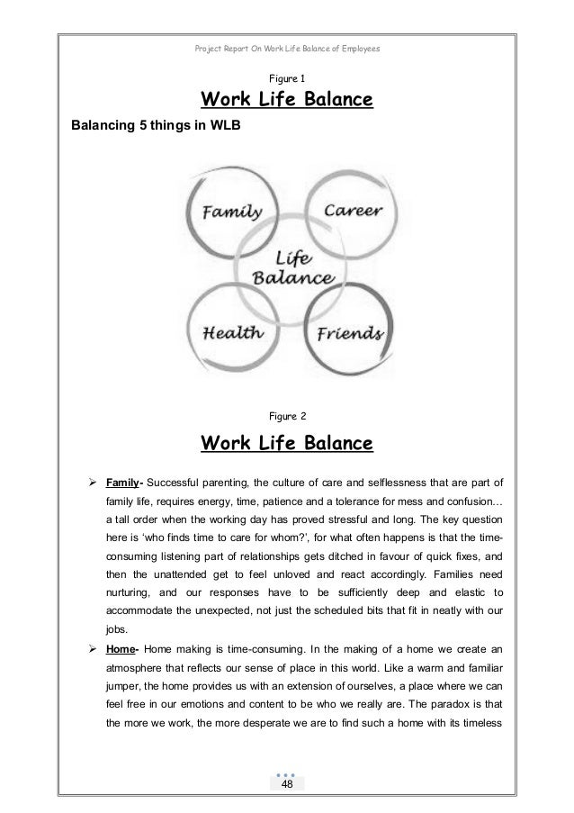 dissertation report on work life balance Work-life balance is a concept that supports the efforts of employees to split their time and energy between work and the other important aspects of their lives work-life balance is a daily effort to make time for family, friends, community participation, spirituality, personal growth, self-care, and other personal activities, in addition to the demands of the workplace.