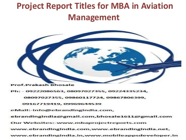 Aviation report topic