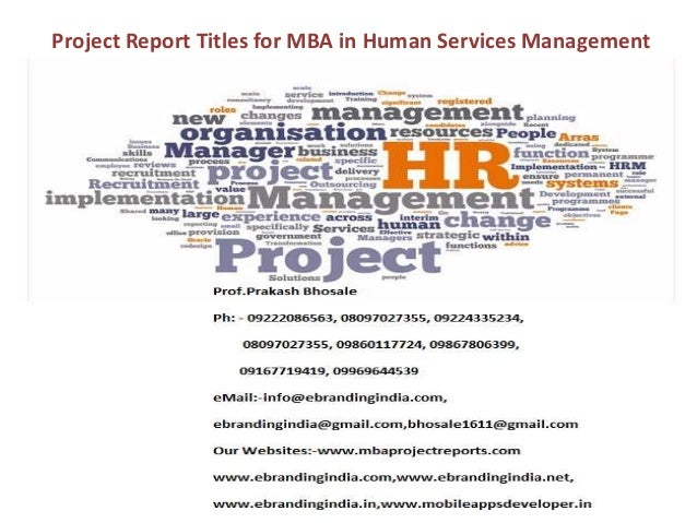 mba dissertation project on hr