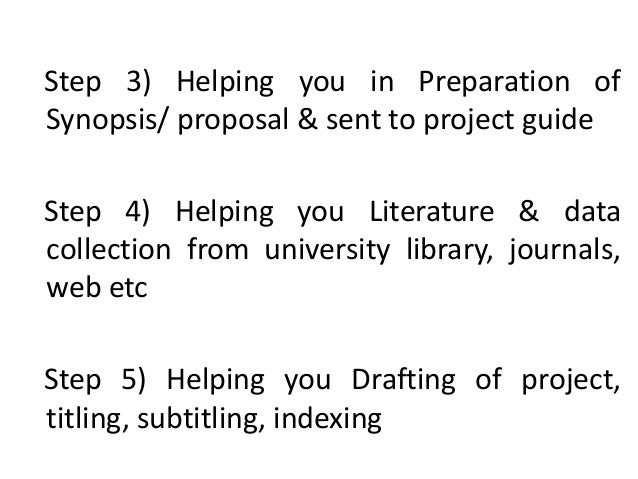 how to write synopsis for project report