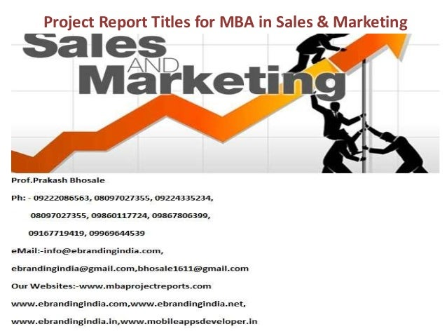 Dissertation Project Report On Marketing