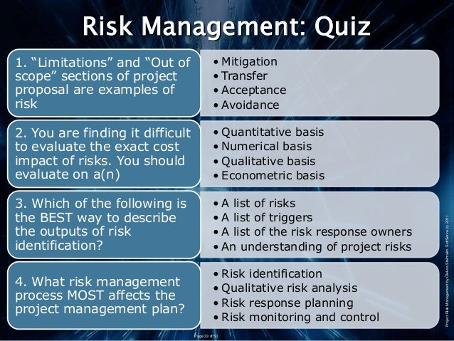 discussion risk mitigation control essay Risk identification is the responsibility of all members of the project team the project manager is responsible for tracking risks and developing mitigation strategies/ contingency plans that address the risks identified by the team.