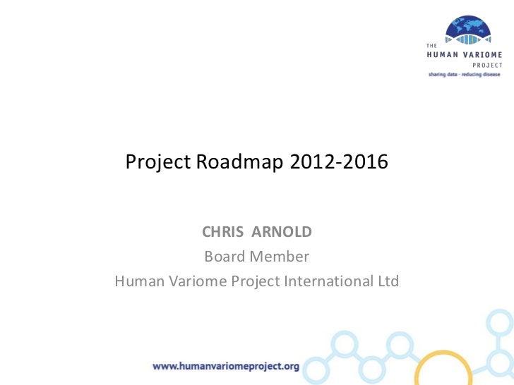 Project Roadmap 2012-2016