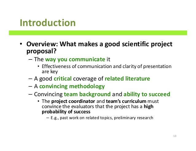 literature review for project proposal Importance of literature reviews journal article or grant proposal just a quick review: a literature review a well-researched and written literature review.
