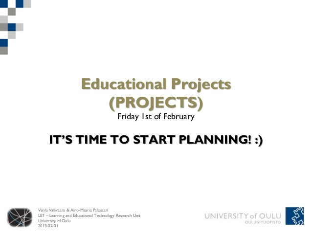 Educational Projects                         (PROJECTS)                                          Friday 1st of February   ...