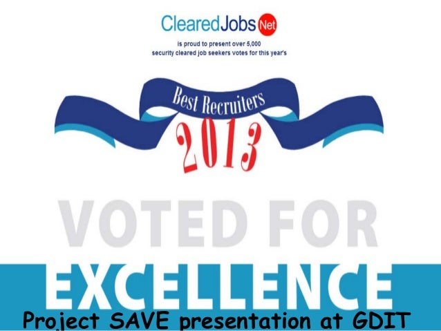 Project SAVE presentation of the Best Recruiter Program