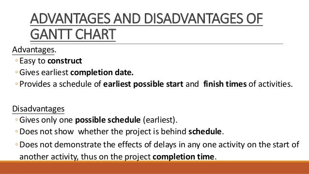 advantages and disadvantages of shortening project Disadvantages of critical path analysis  the worst for cpa is shortening a timeline after all, projects are mapped out based in large part on time allotted to.