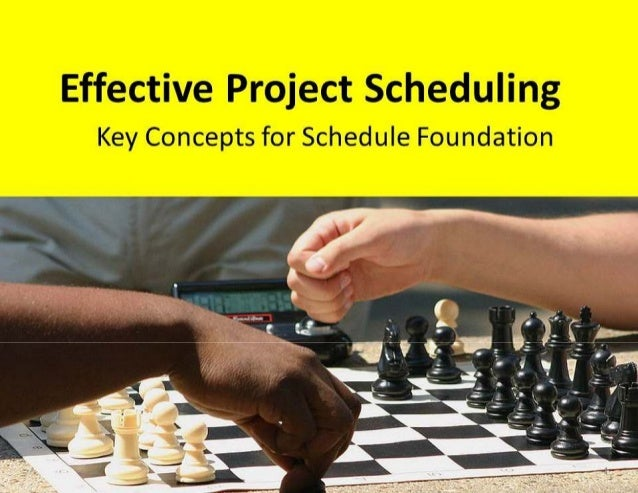 Project scheduling using ms project