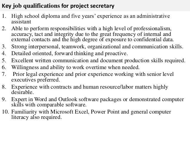 executive secretary job description pdf