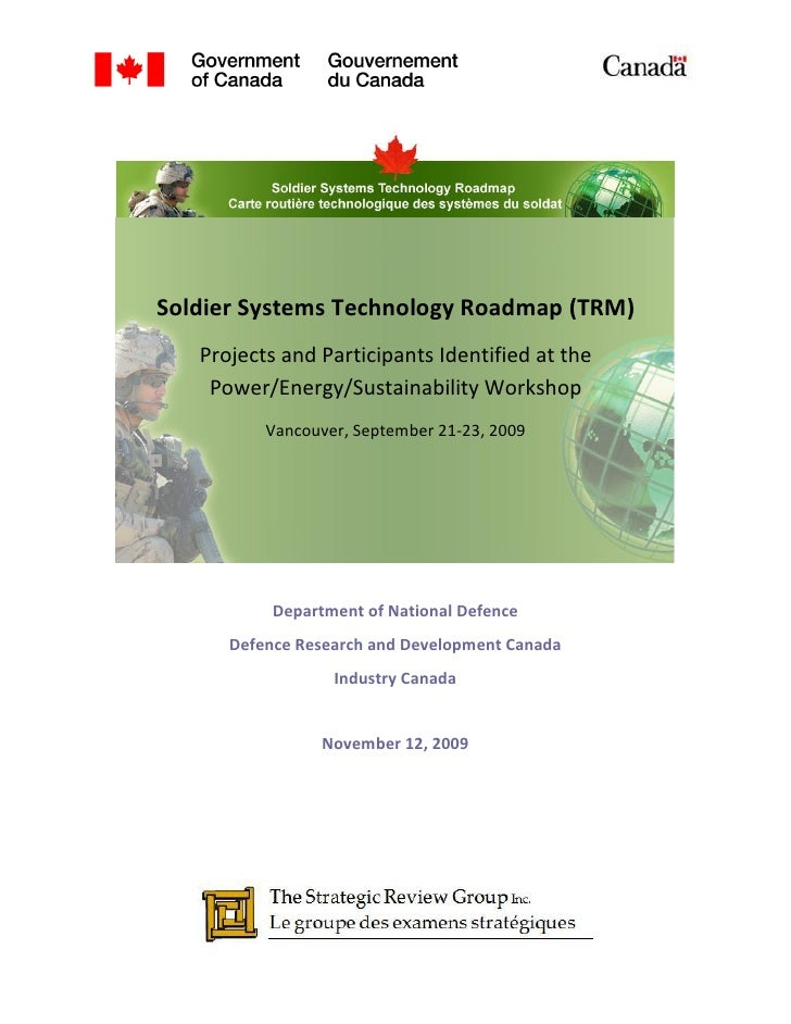 SSTRM - StrategicReviewGroup.ca - Workshop 2: Power/Energy and Sustainability, Volume 3 - Technology Research Themes Identified at the Workshop
