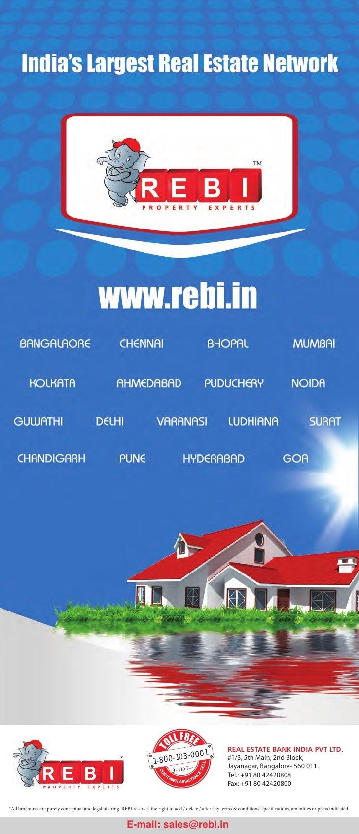 Projects Marketed REBI at Bangaluru