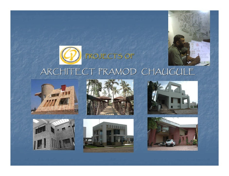 Architectural Design-Projects of Ar.Pramod Chaugule