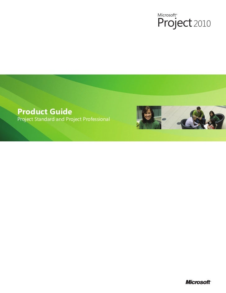 Product GuideProject Standard and Project Professional