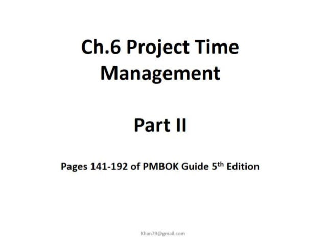 Project time management 2 final