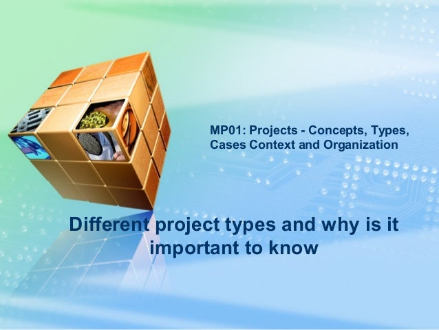LOGO Different project types and why is it important to know MP01: Projects - Concepts, Types, Cases Context and Organizat...