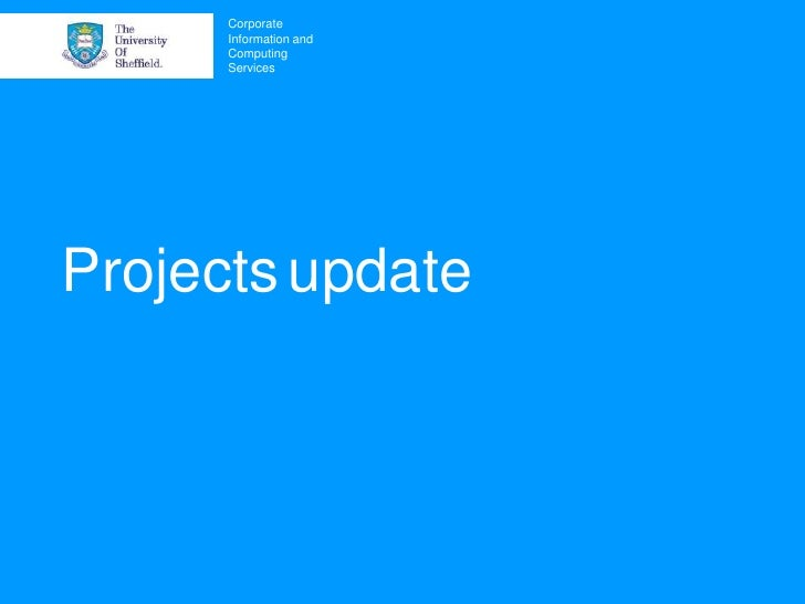 Project Update User Group