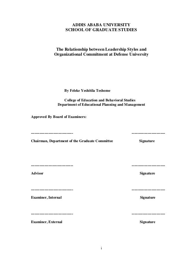 study on relationship between organizational commitment