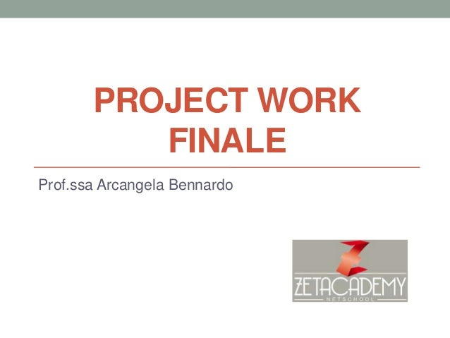 Project work arcangela bennardo